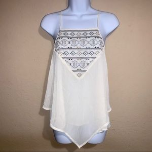 About A Girl cross stitch cami top size S